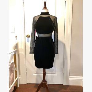 Long Sleeve, Inessa Velvet Dress